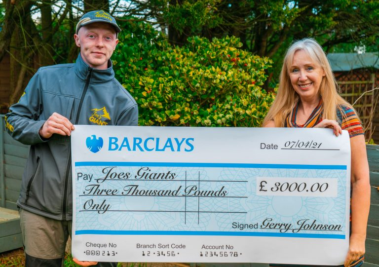 Joes Giants Cheque